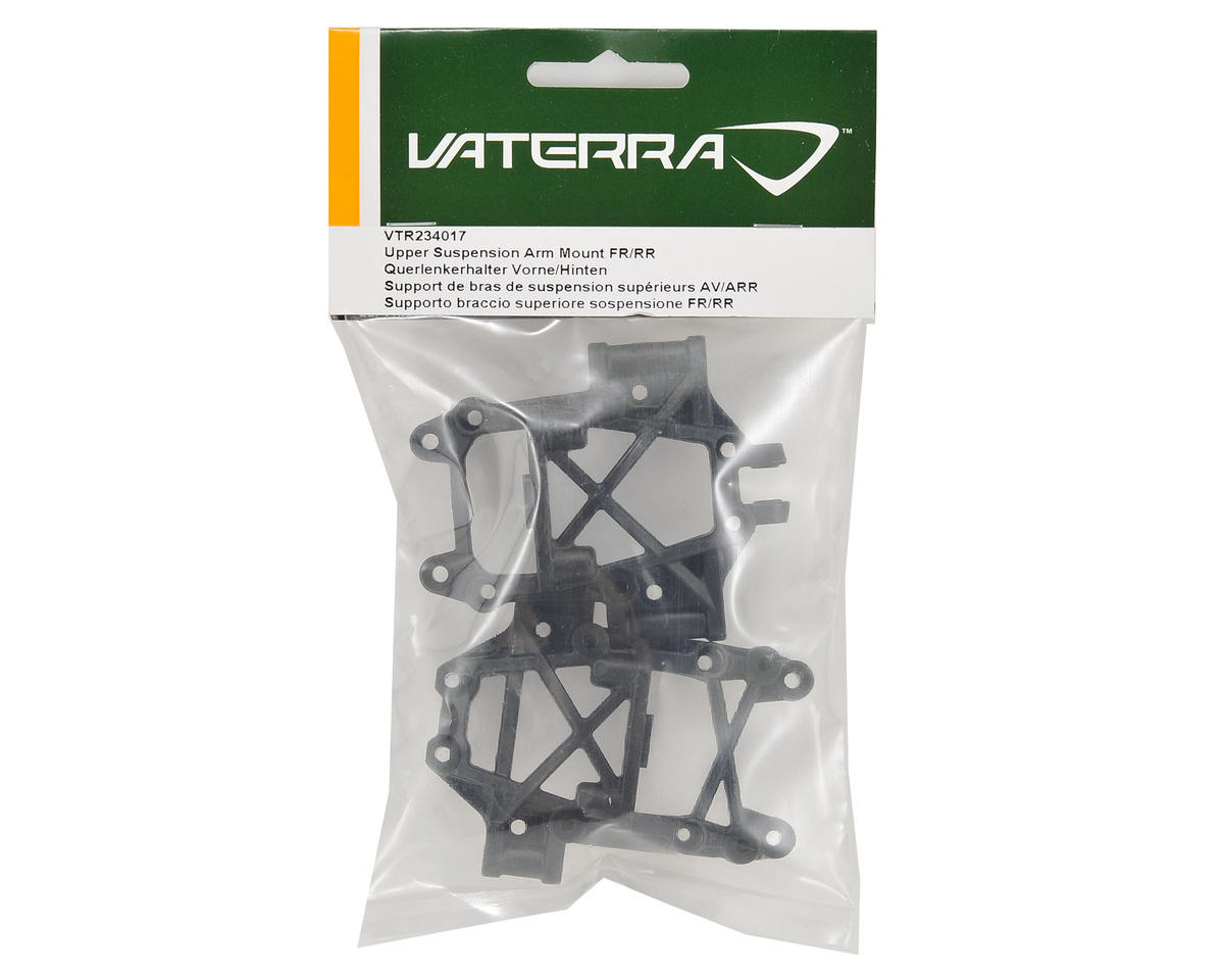 Front/Rear Upper Suspension Arm Mount Set by Vaterra