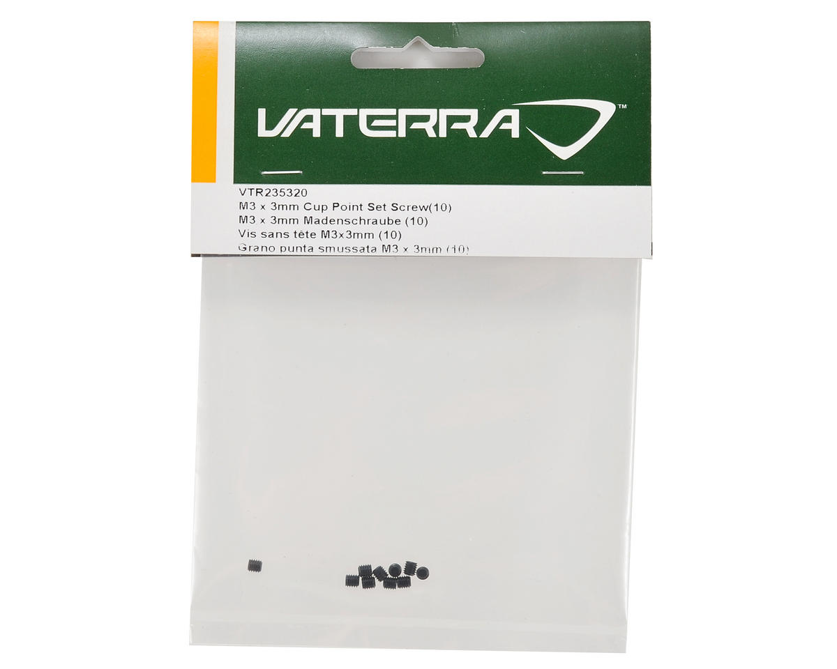 Vaterra 3x3mm Cup Point Set Screw (10)