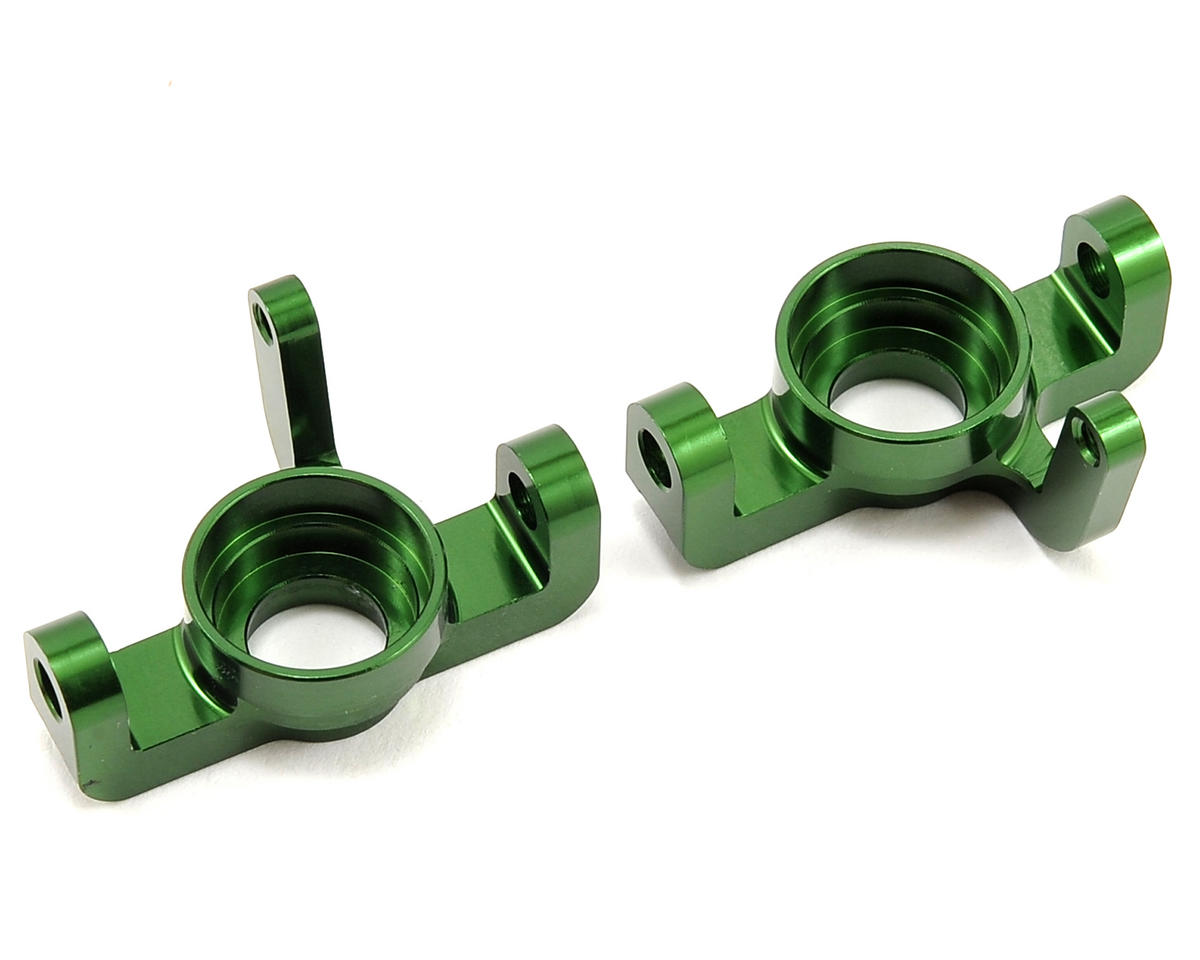 Vaterra Aluminum Front Spindle Set (Green) (2)