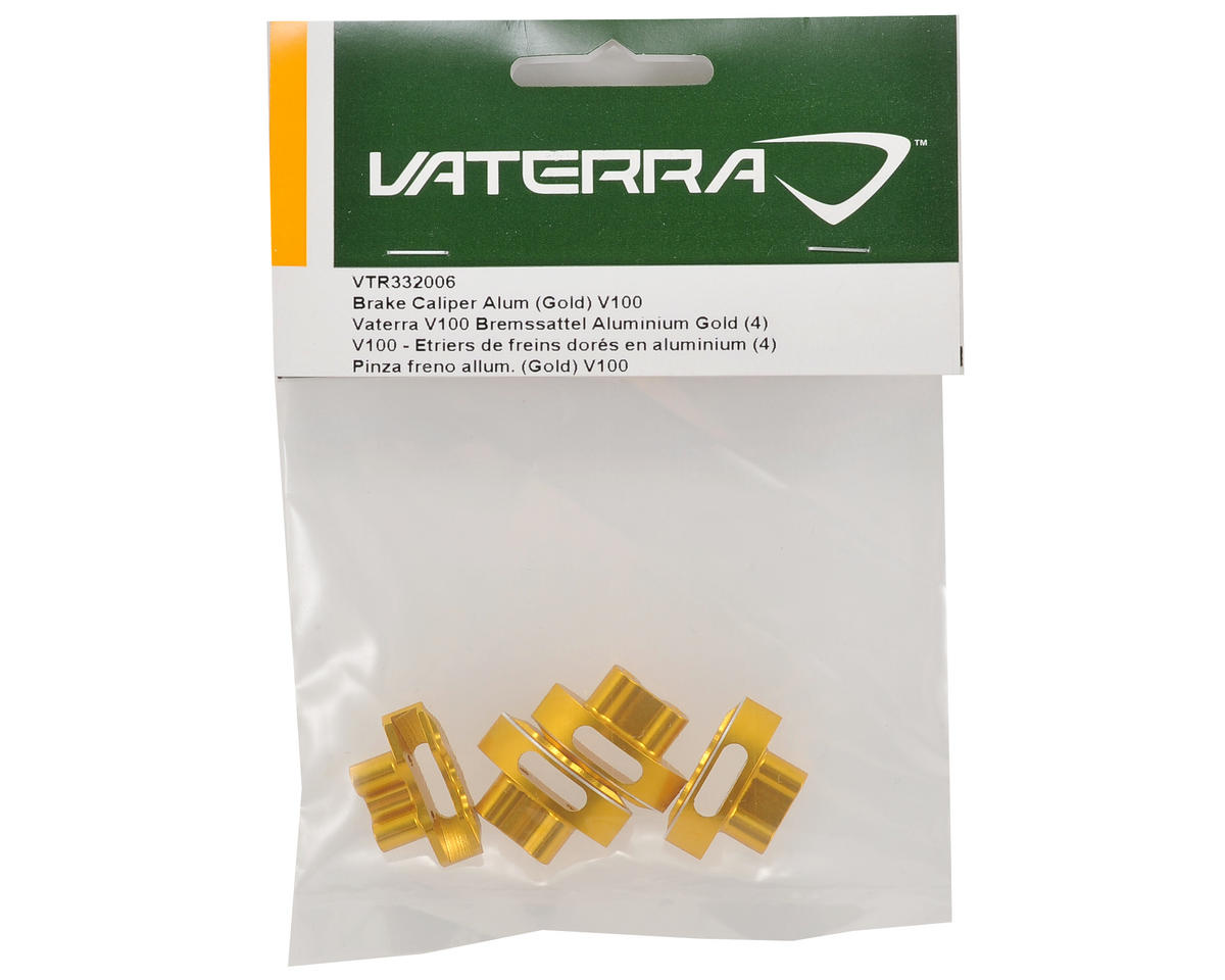Vaterra Aluminum Brake Caliper Set (Gold) (4)