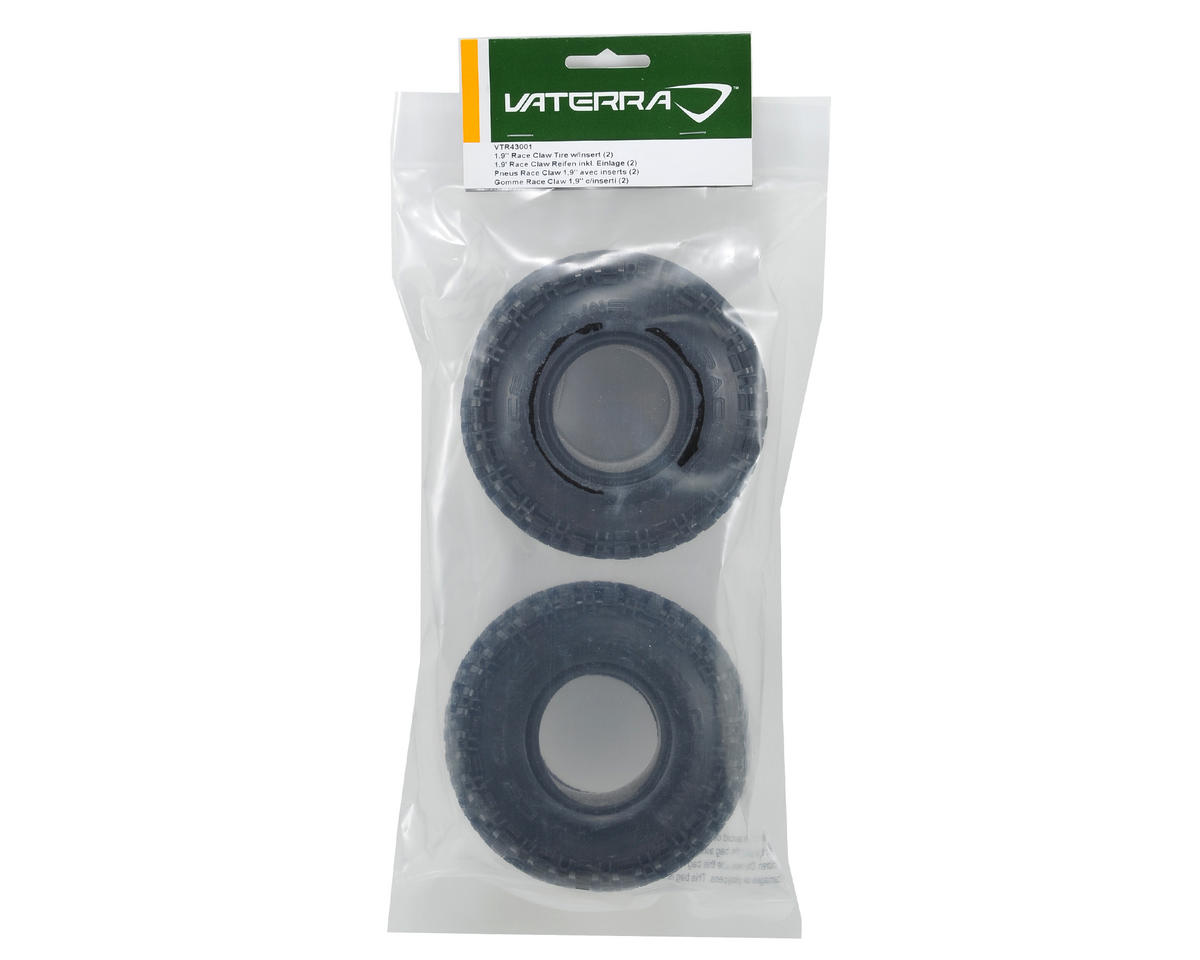"Race Claw 1.9"" Rock Crawler Tires w/Inserts (2) by Vaterra"