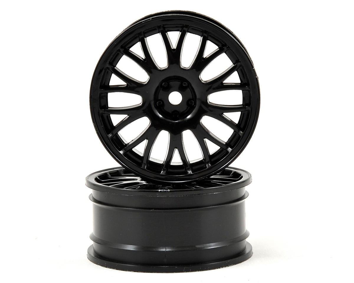 Vaterra 54x26mm Front Mesh TC Wheel (2) (Black)