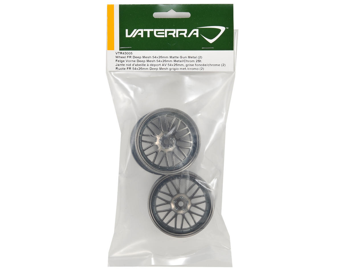 Vaterra 12mm Hex 54x26mm Front Deep Mesh Wheel (2) (Matte Gun)