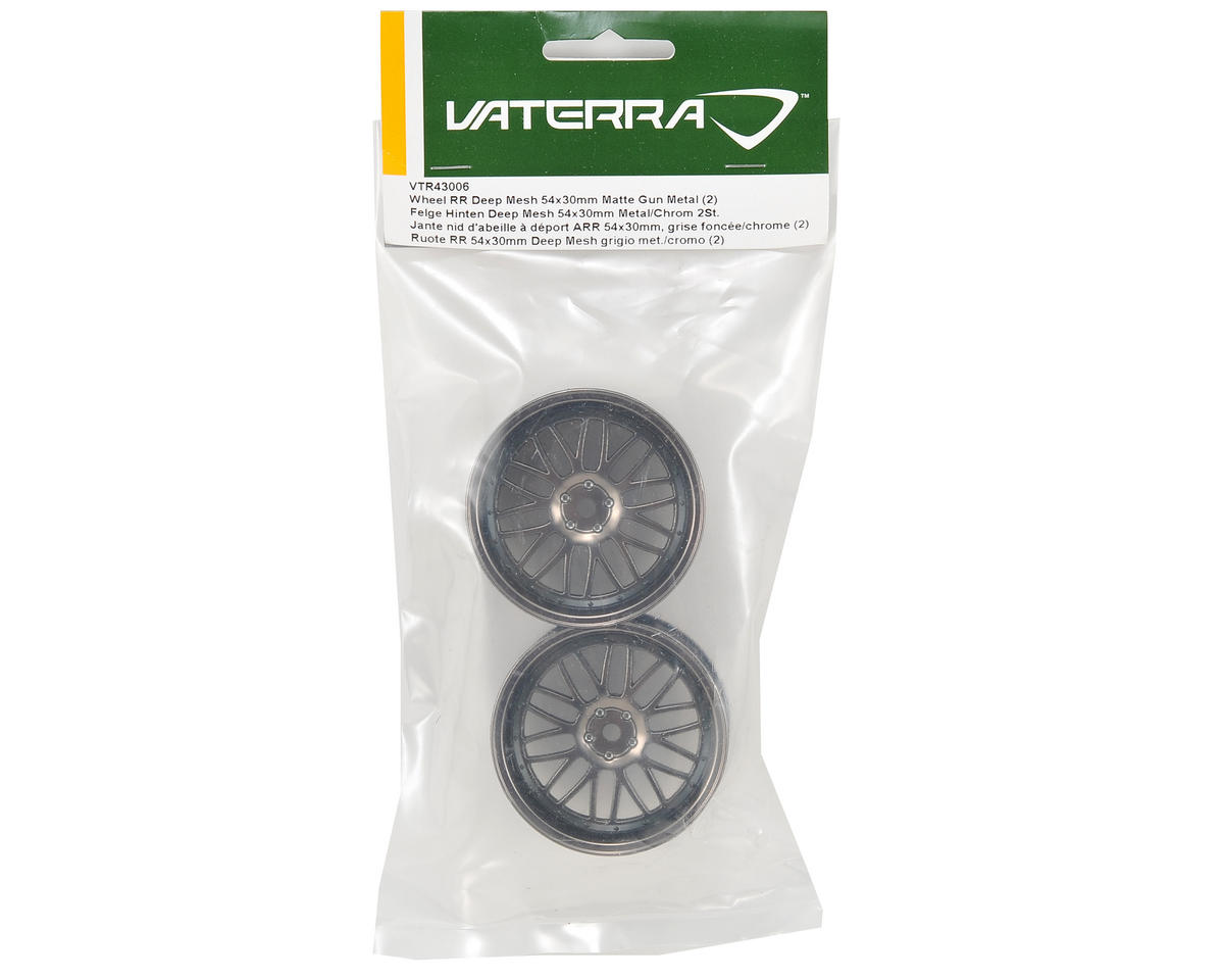 Vaterra 12mm Hex 54x30mm Rear Deep Mesh Wheel (2) (Matte Gun)
