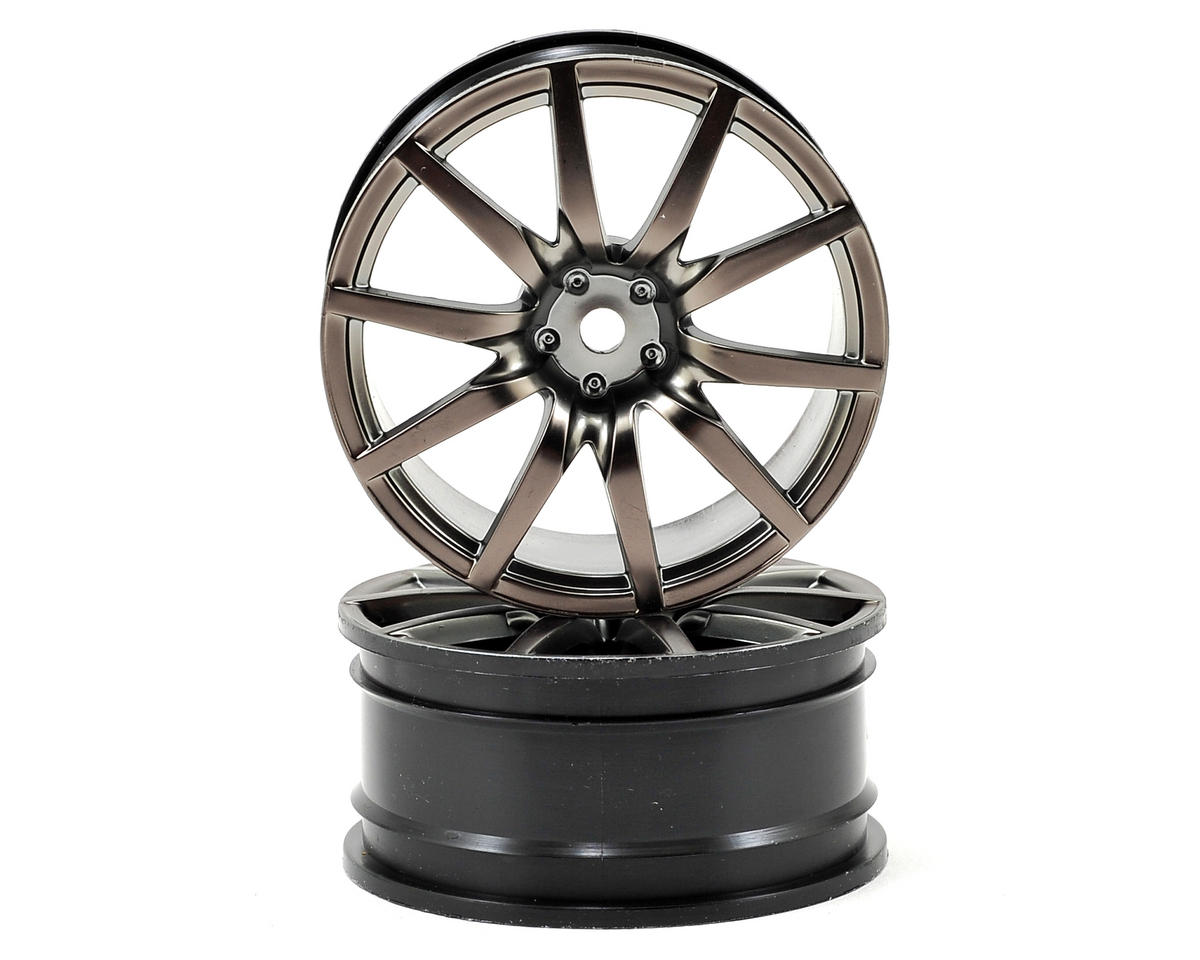 54x26mm Nissan GT-R Front Wheel (Gun Metal) (2) by Vaterra
