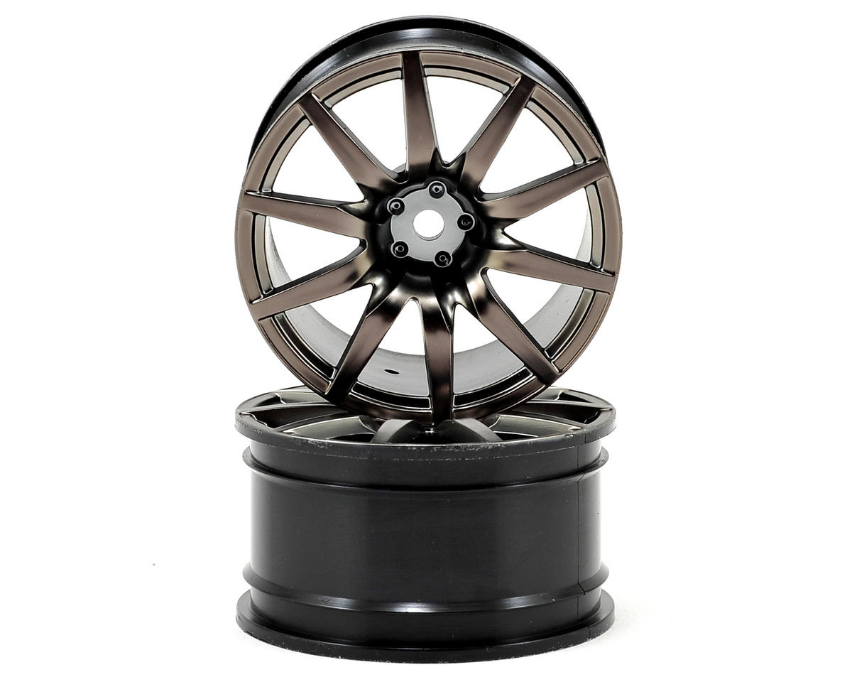Vaterra 54x30mm Nissan GT-R Rear Wheel (Gun Metal) (2)
