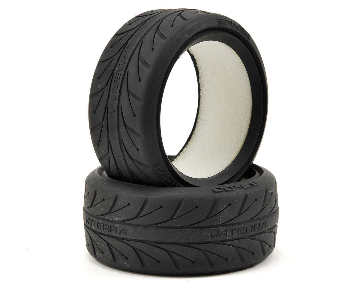 67x26mm Front V1 Performance Tire w/Foam (2) (S Compound) by Vaterra
