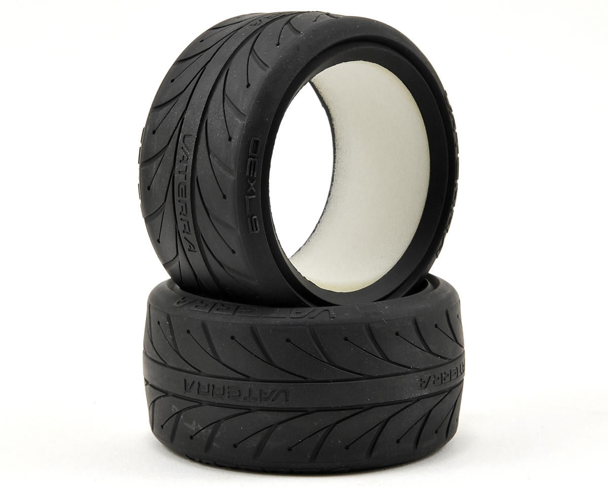 67x30mm Rear V1 Performance Tire w/Foam (2) (S Compound) by Vaterra