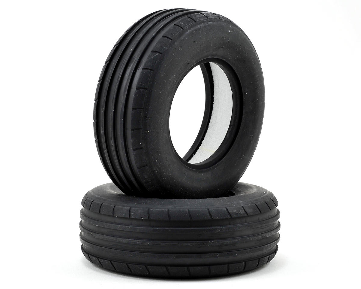 Vaterra Ribbed Front Tire w/Foam (2) (Medium)