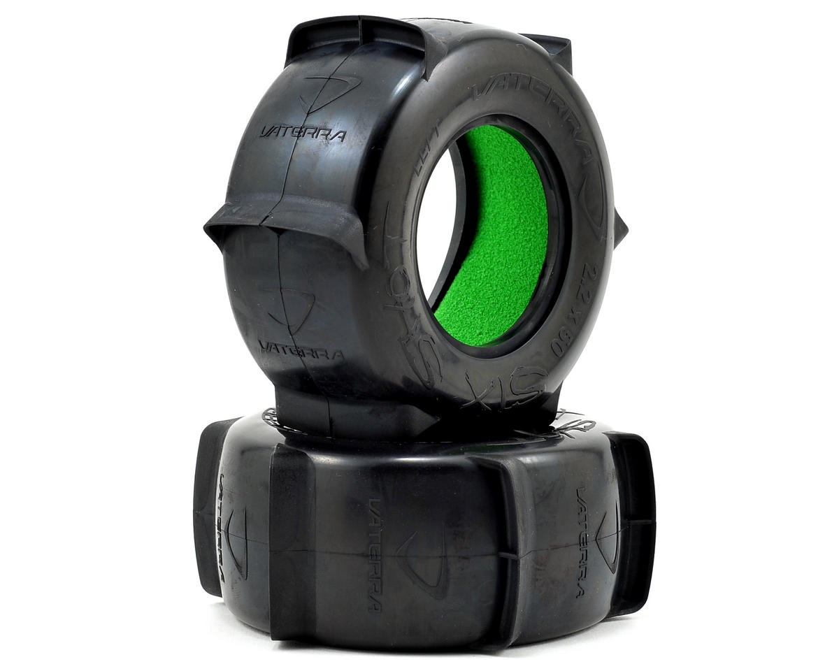 50mm Rear Paddle Tire w/Foam (2) by Vaterra Glamis Uno