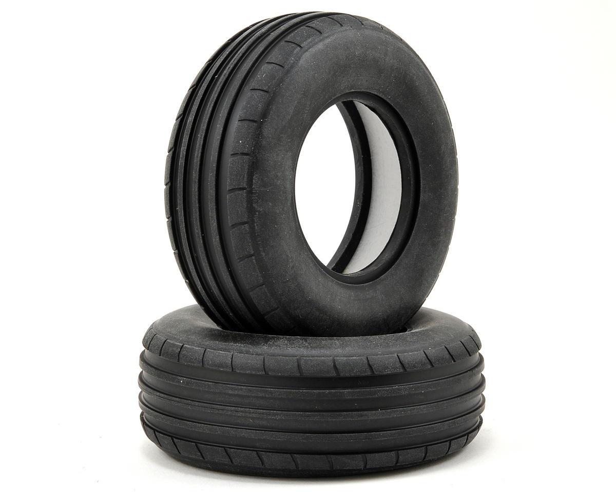 Ribbed Front Tire w/Foam (2) (Soft) by Vaterra
