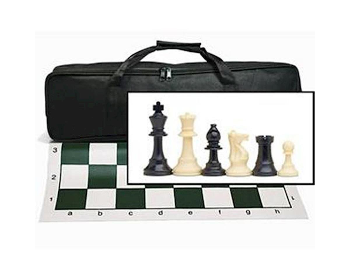 Wood Expressions 10-1120 Tournament Chess Set with Black Canvas Bag