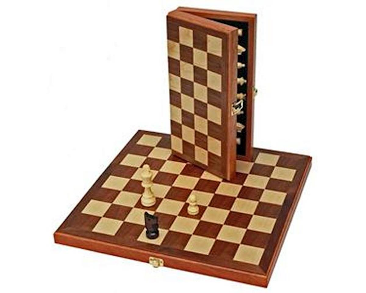 Wood Expressions  Wood Folding Chess Set 11""
