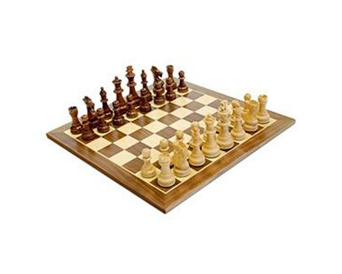 "Walnut 15"" Chessboard With 3"" King by Wood Expressions"