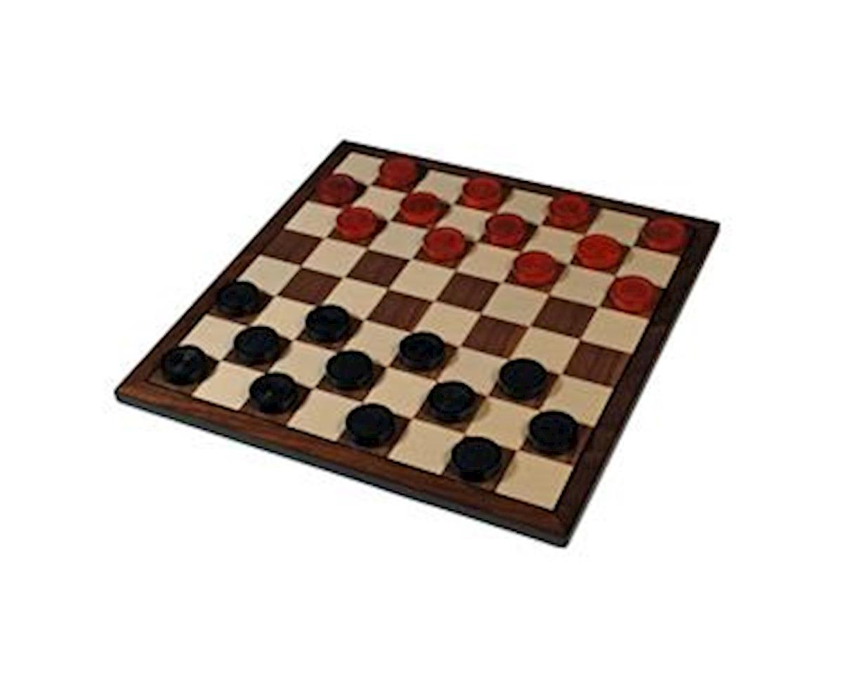 Wood Expressions  Nostalgic Red & Black Wooden Checkers Set