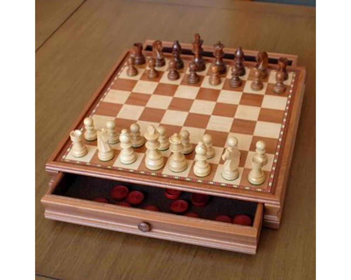 "Wood Expressions 268815 15"" French Staunton Style Chess & Checkers Set"