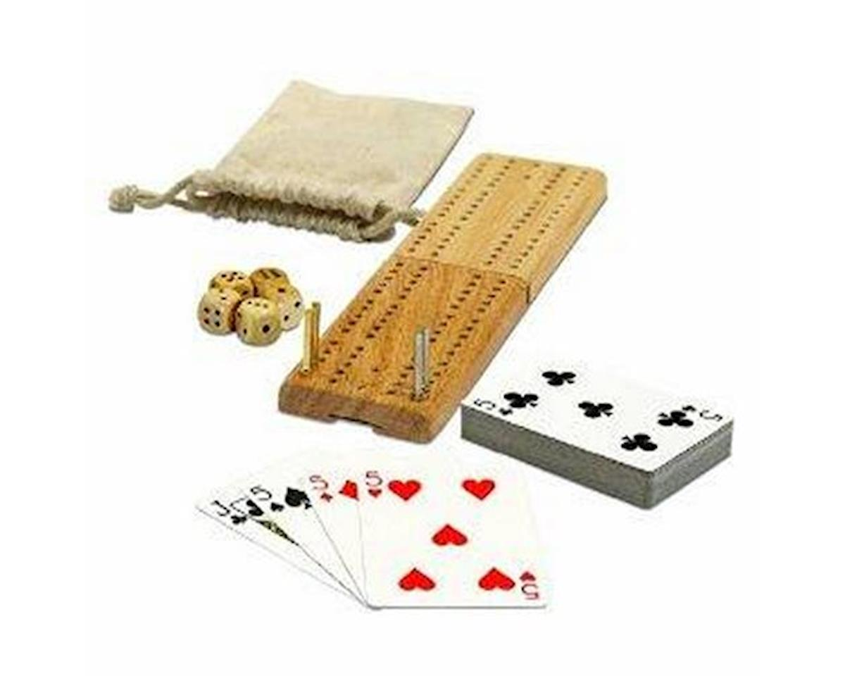Wood Expressions  12-In-1 Travel Cribbage & Cards Game Pack