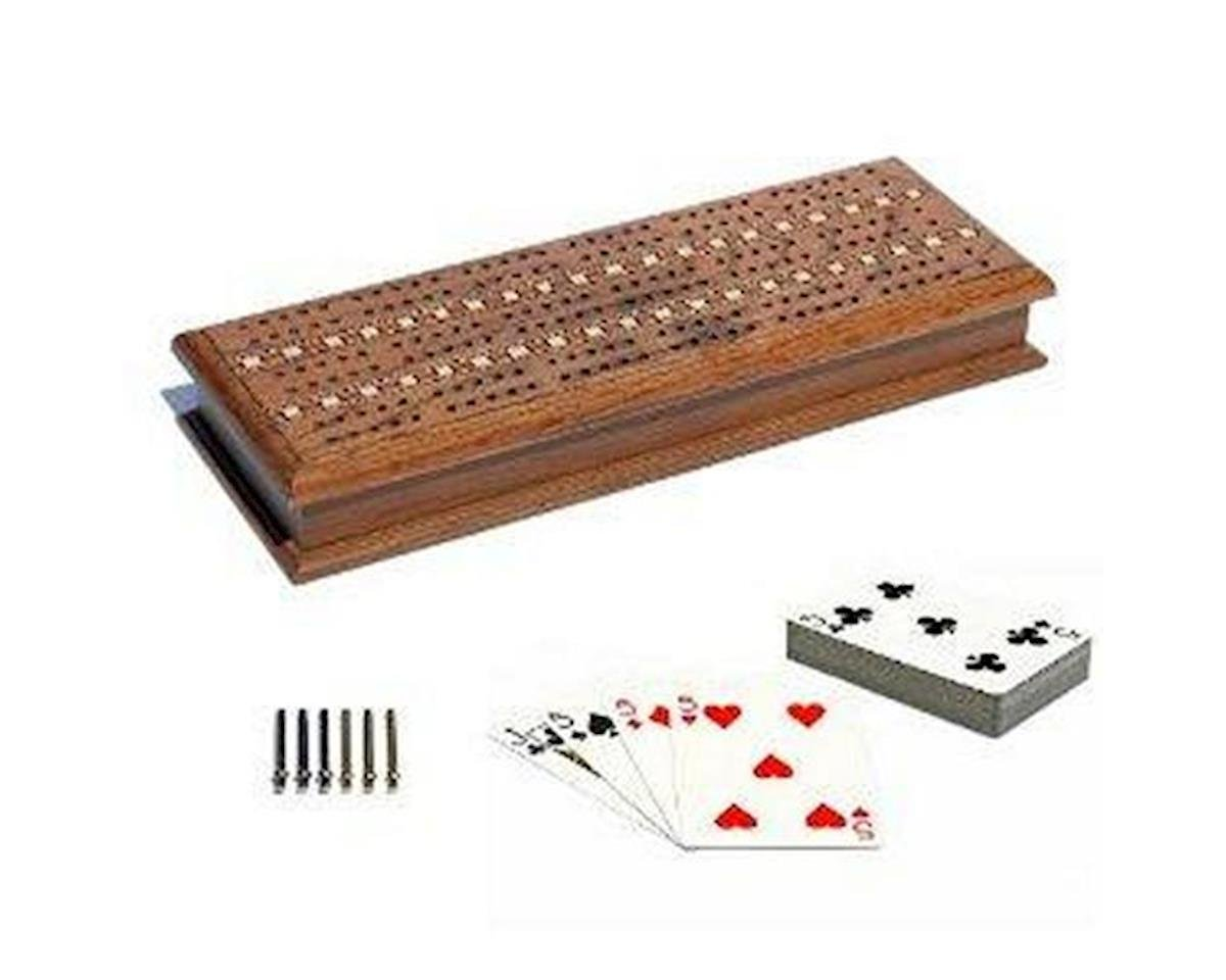 3 Track Stained Oak Cribbage Boa