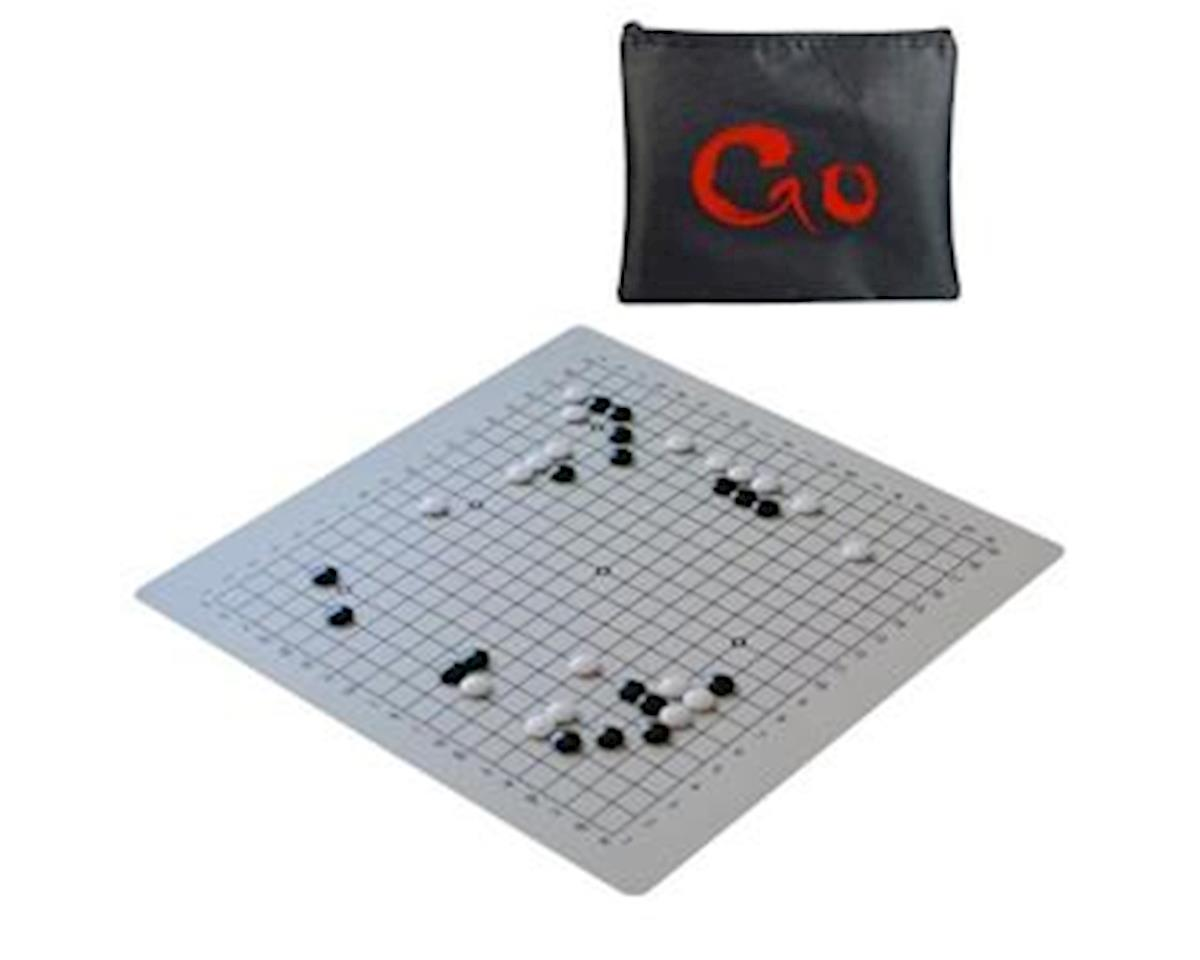 Wood Expressions WE games 492120 Ultimate Travel Go Set with Full-Size 19.75 inch Silicone GO Board & Convex Stones
