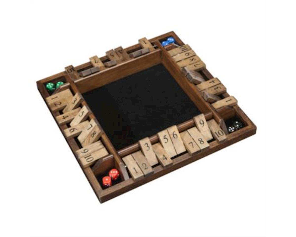 Wood Expressions WE Games 4-Player Shut the Box, Travel Size, 8 inches