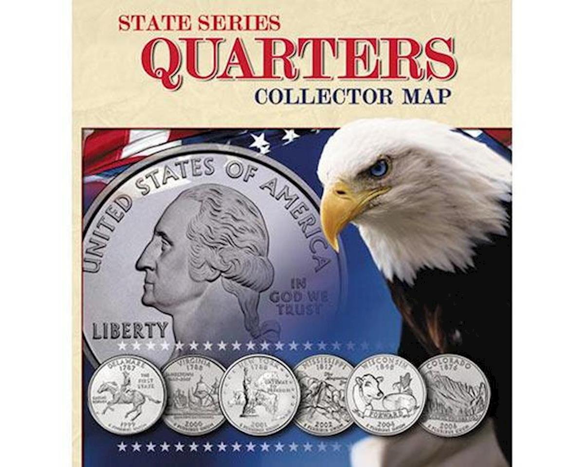 State Series Quarter Collector Map-Foam by Whitman Coins