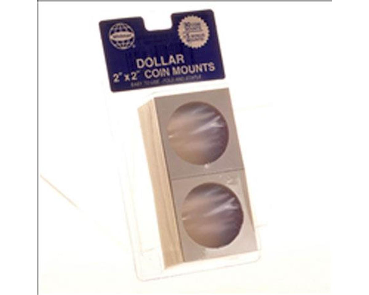 """Large Dollar 2""""X2"""" Cardboard Coin Mount 35Pc by Whitman Coins"""