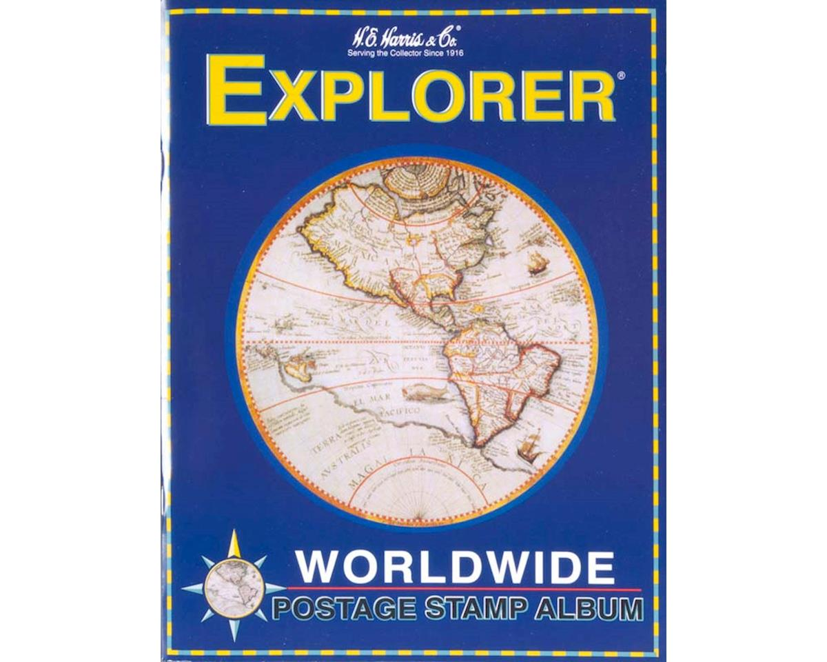 Whitman Coins 4HRS1 Explorer Worldwide Stamp Album Kit