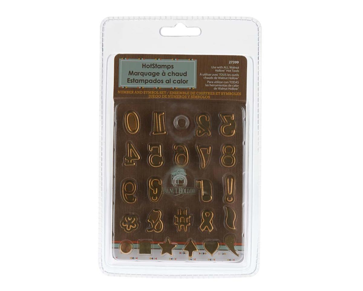 Walnut Hollow Farms 27399 Hotstamps Number and Symbol Set