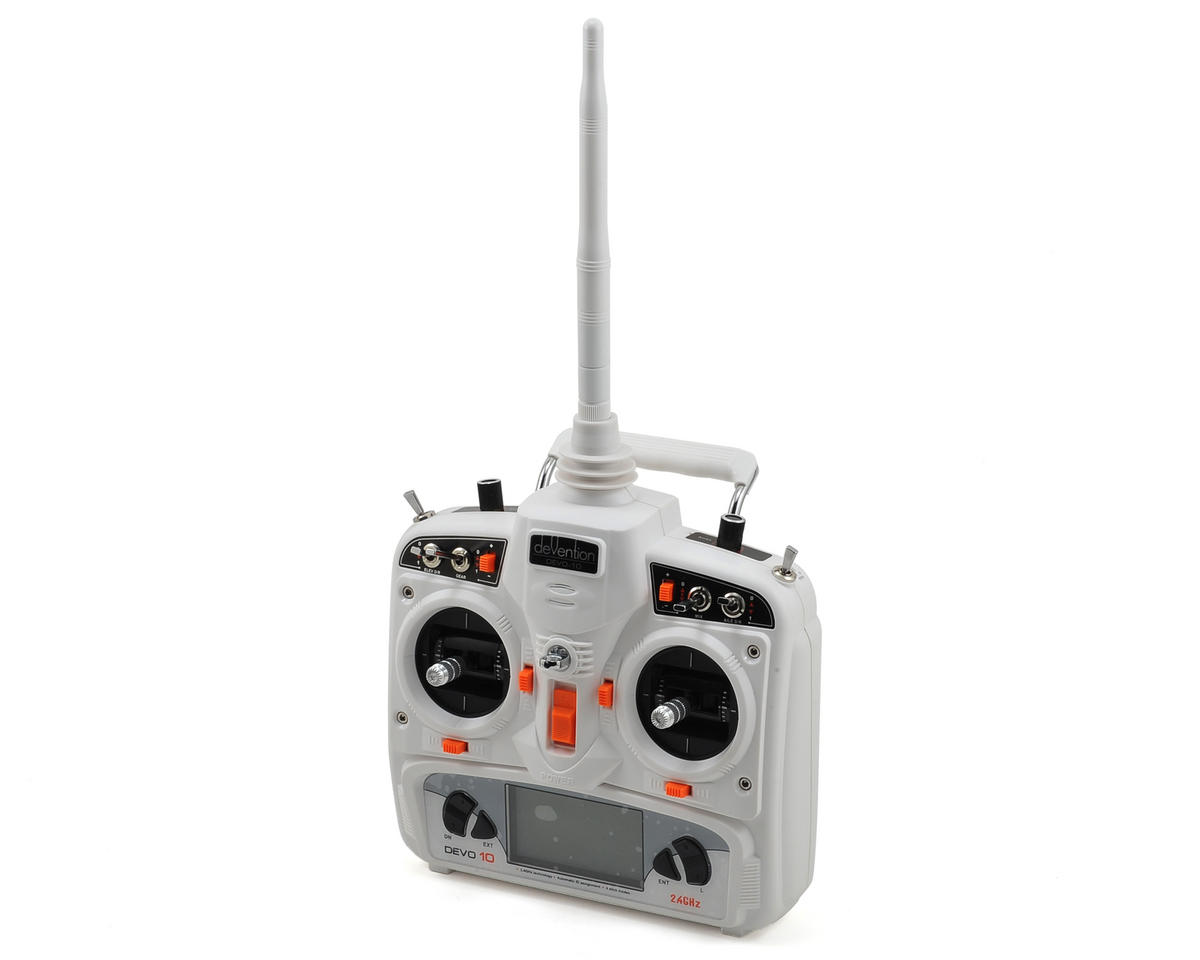 Walkera DEVO 10 2.4GHz 10-Channel Radio (Mode 2) (Transmitter Only) (White)