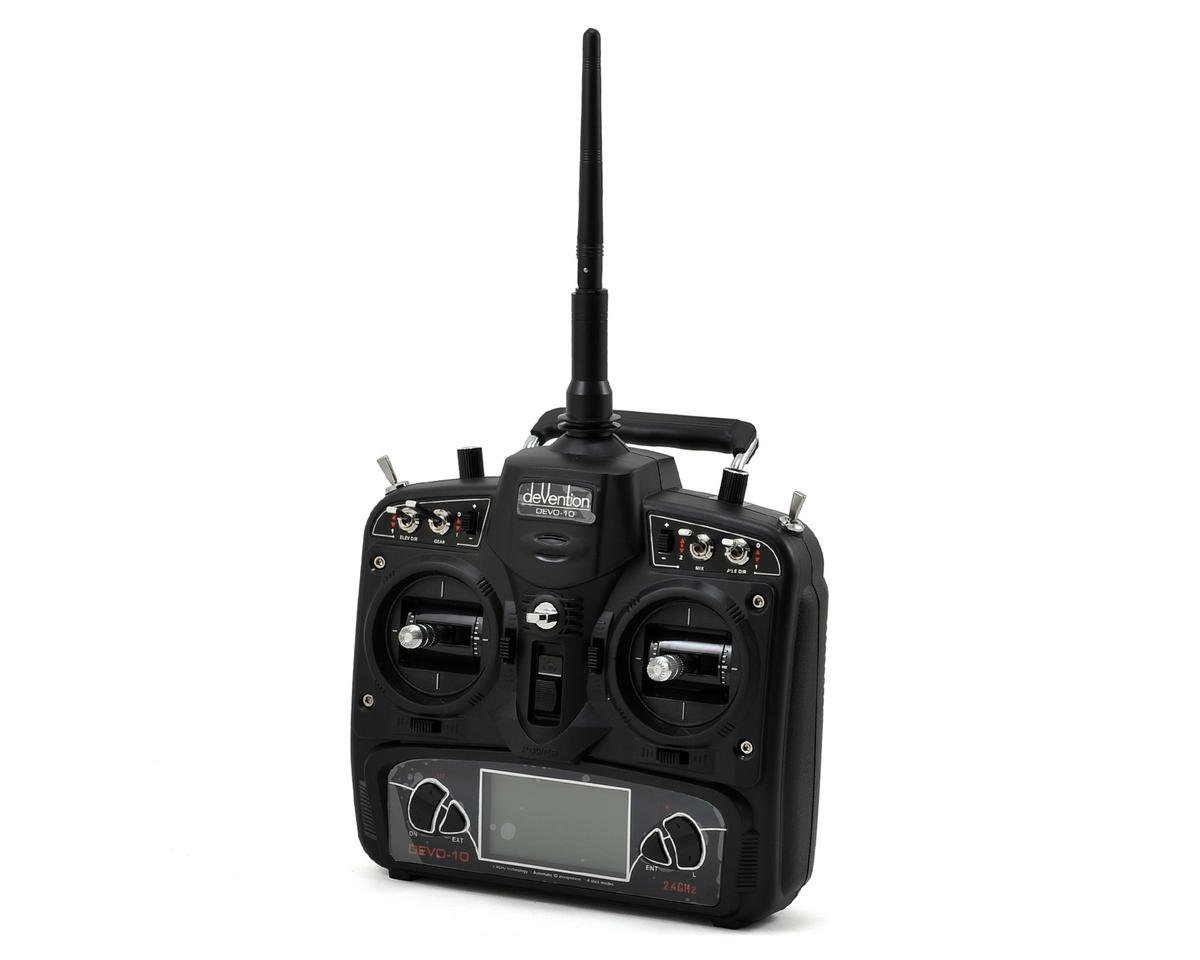 Walkera DEVO 10 2.4GHz 10-Channel Radio (Mode 2) (Transmitter Only) (Black)