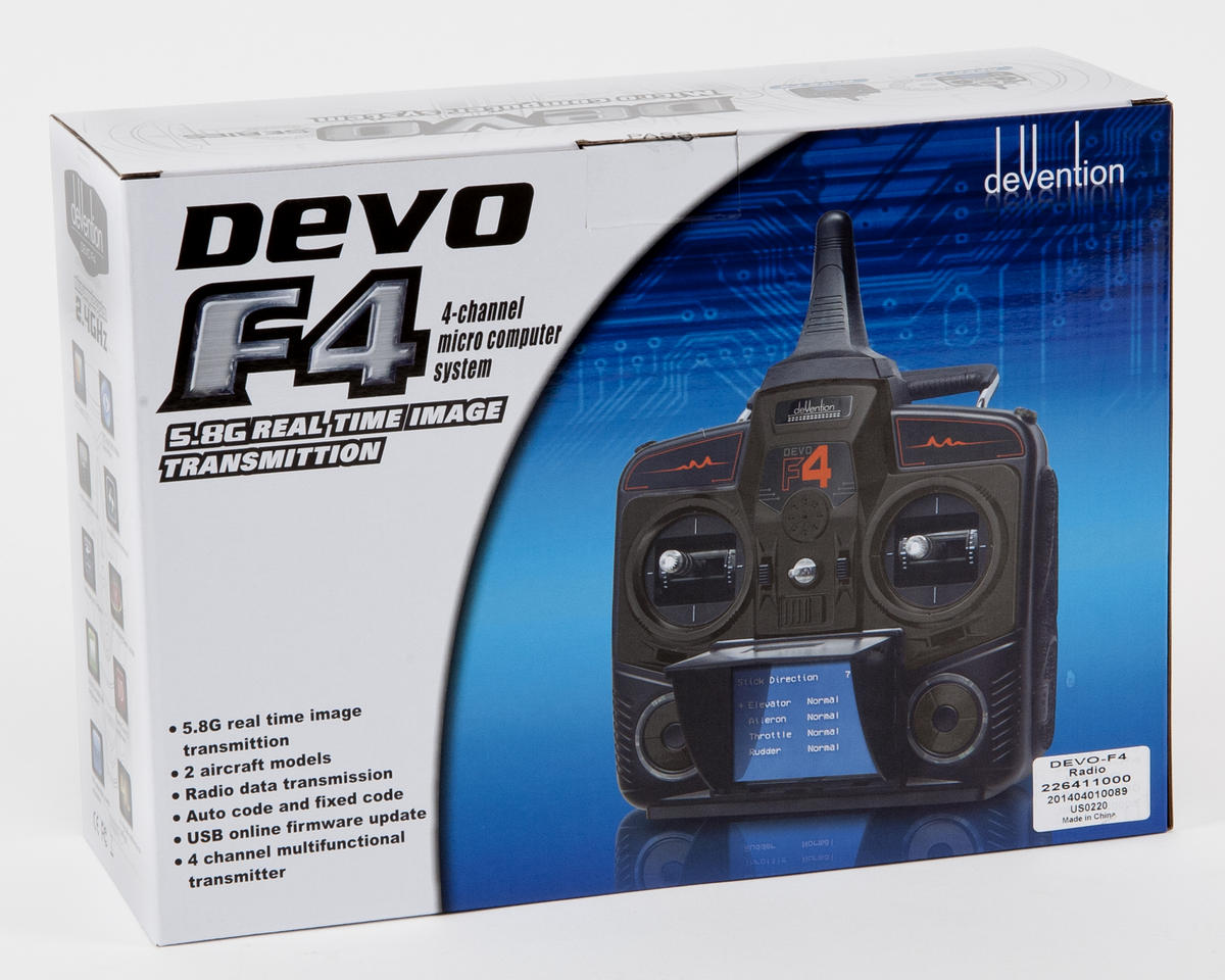 Walkera DEVO F4 2.4GHz 4-Channel FPV Radio System (Mode 2)