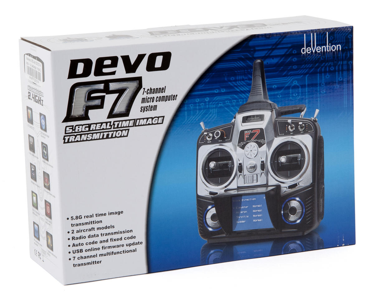 Walkera DEVO F7 2.4GHz 7-Channel FPV Radio System (Mode 2)