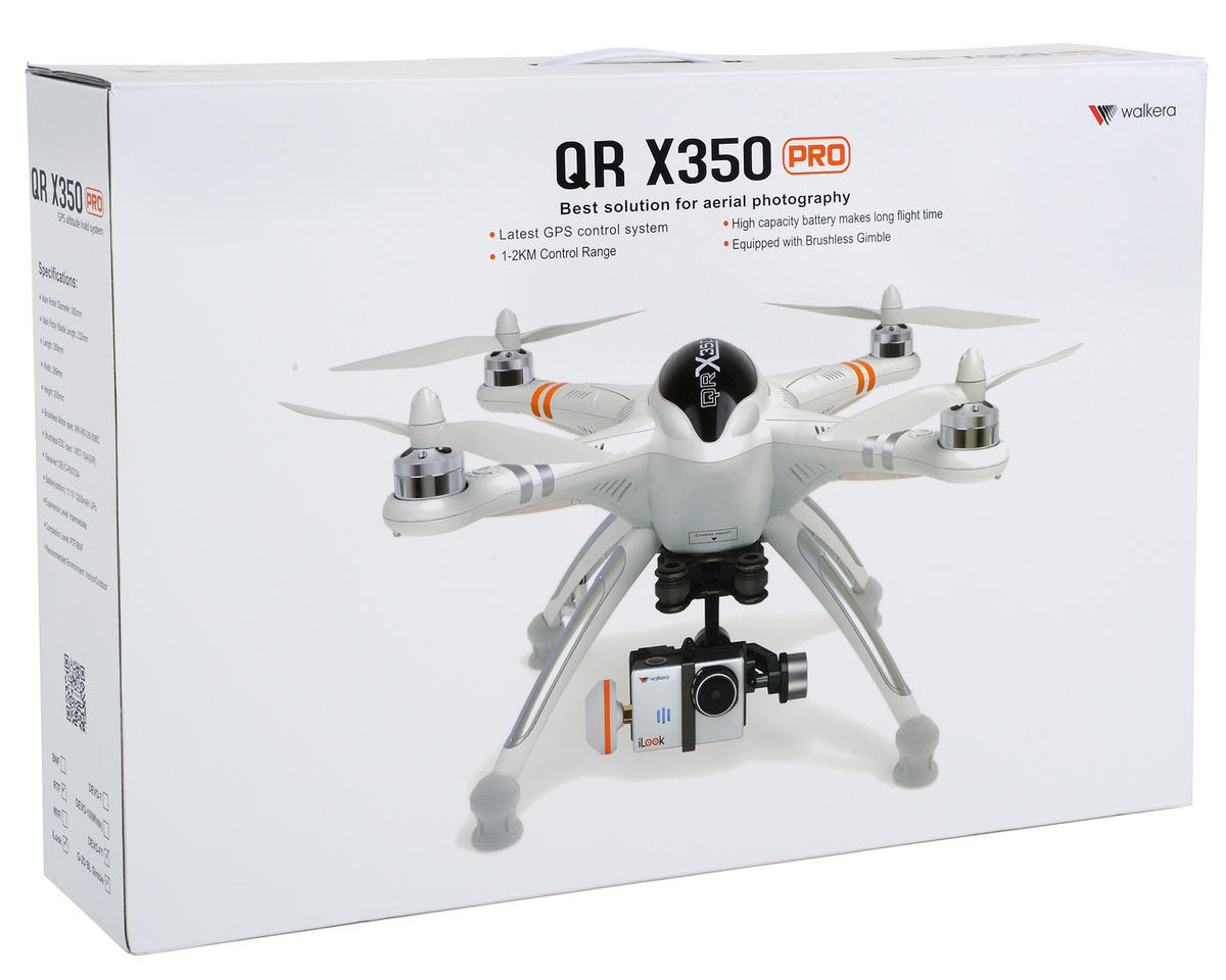 Walkera QR X350 PRO RTF4 Complete FPV Quadcopter System w/3 Batteries & Hard Case!