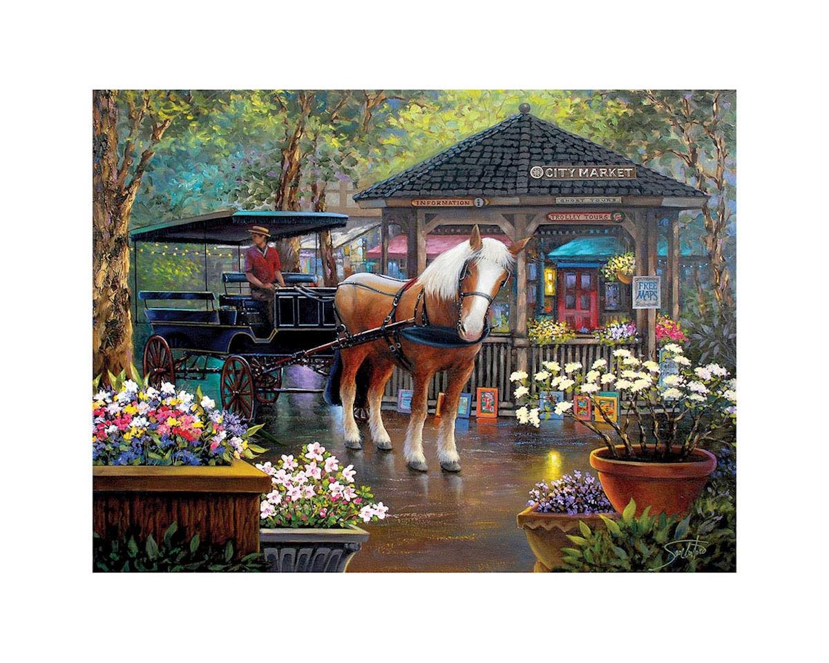 White Mountain Puzzles 1322PZ City Market 1000pcs