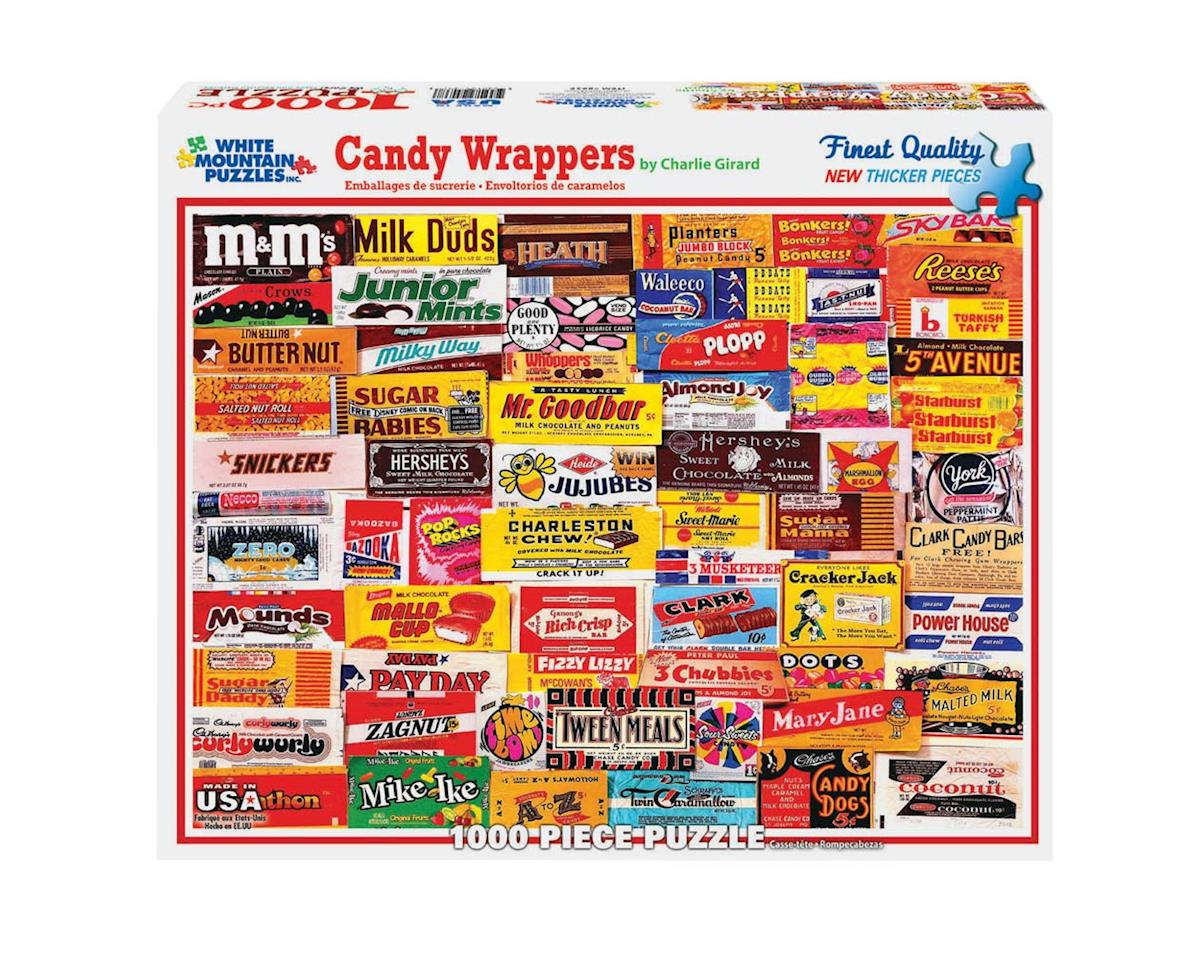 White Mountain Puzzles 1000Puz Candy Wrappers Collage