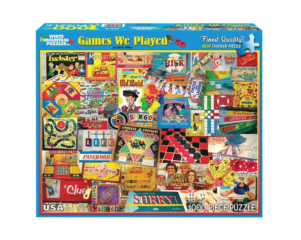 White Mountain Puzzles 1000Puz Classic Board Games We Played