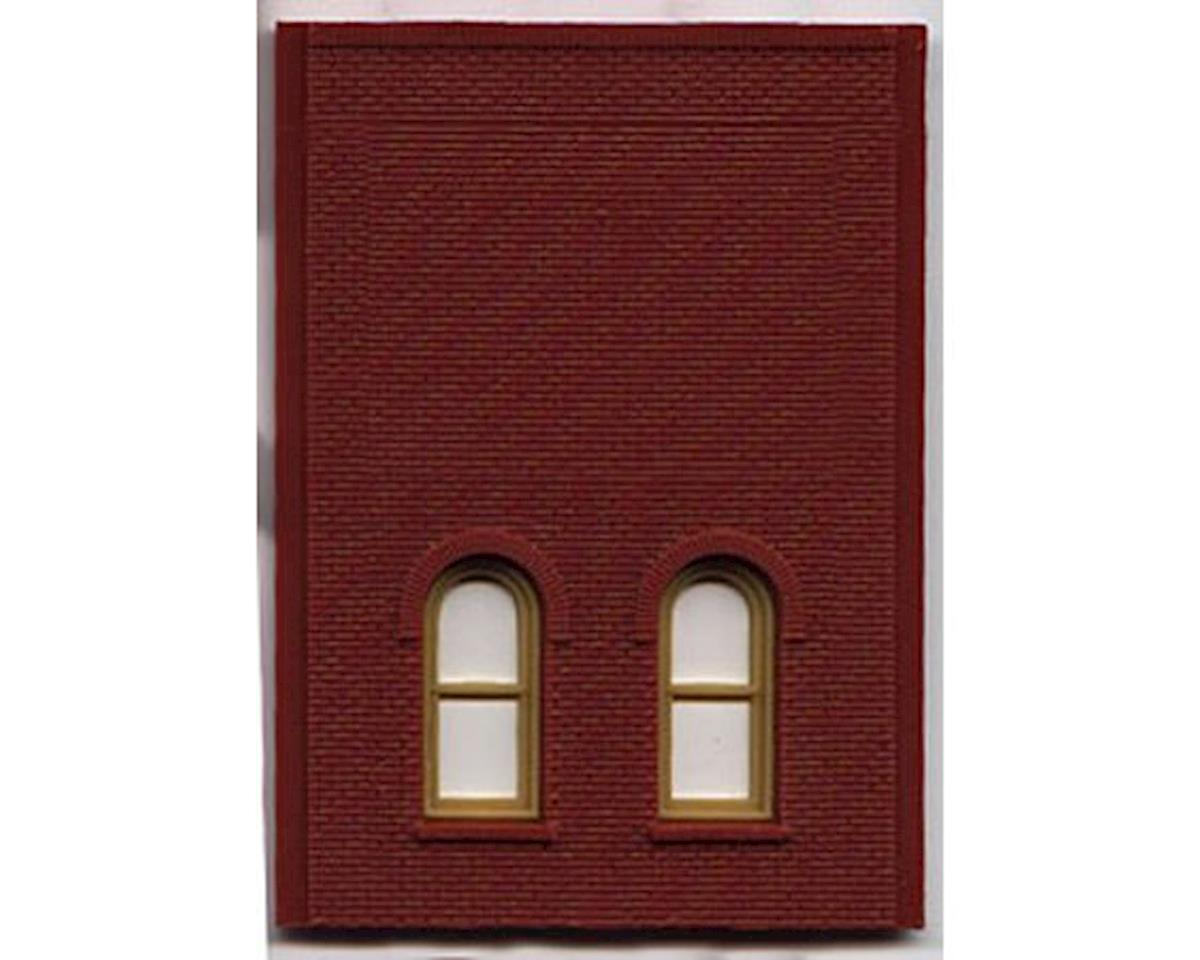 Woodland Scenics HO DPM 2 Story/2 Arch Window Wall (4)