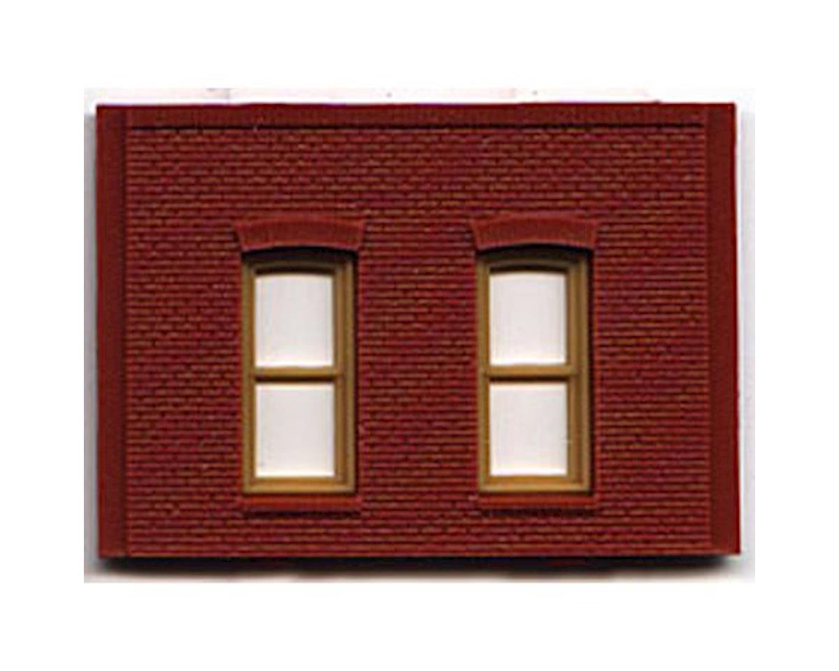 Woodland Scenics HO DPM 1 Story/2 Rectangular Window Wall (4)