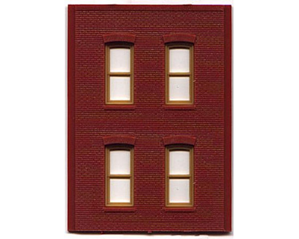 Woodland Scenics HO DPM 2 Story/4 Rectangle Windows (4)