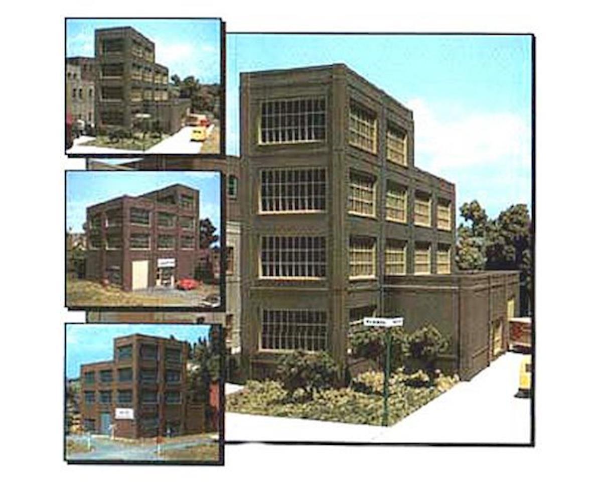 Woodland Scenics HO KIT DPM Steel Sash Industrial Building