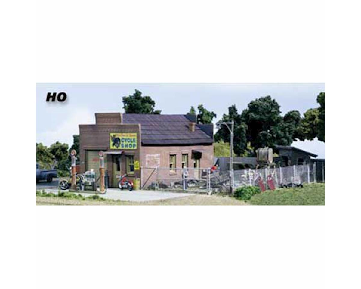 Woodland Scenics HO KIT DPM Gold Harlee & Sons Cycle Shop
