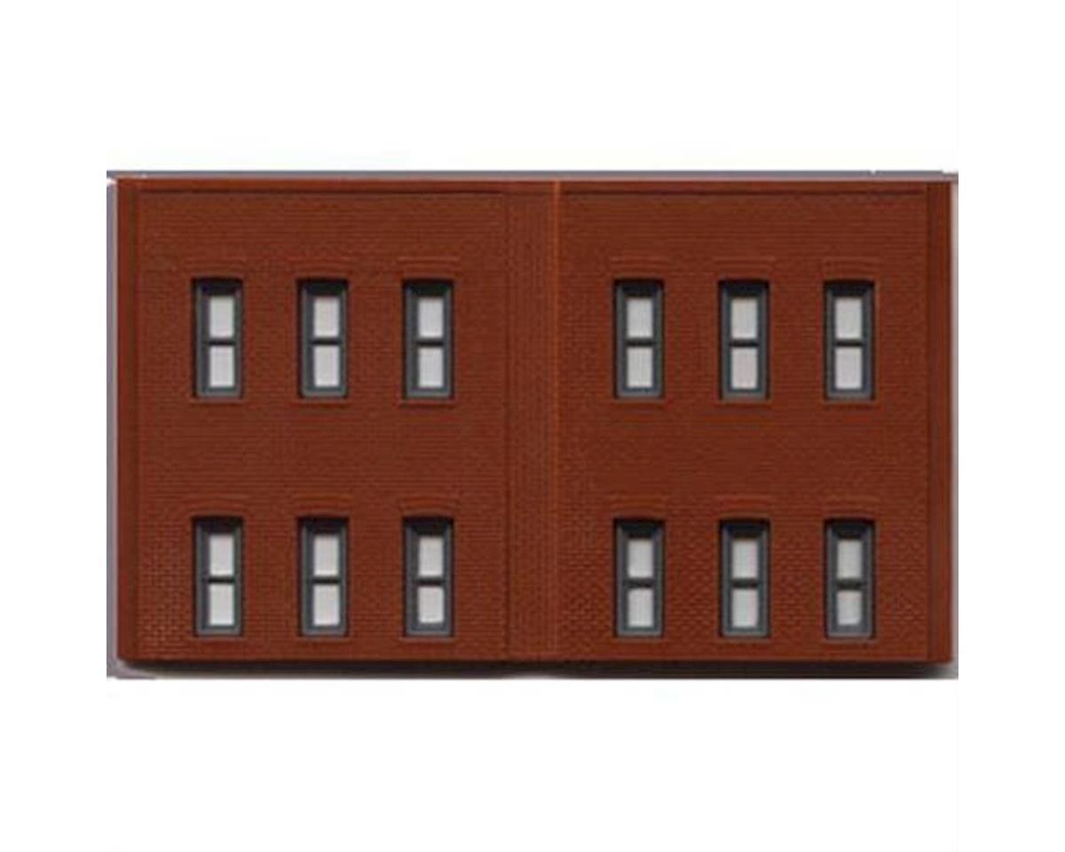 Woodland Scenics N DPM 2 Story Wall/12 Windows (3)