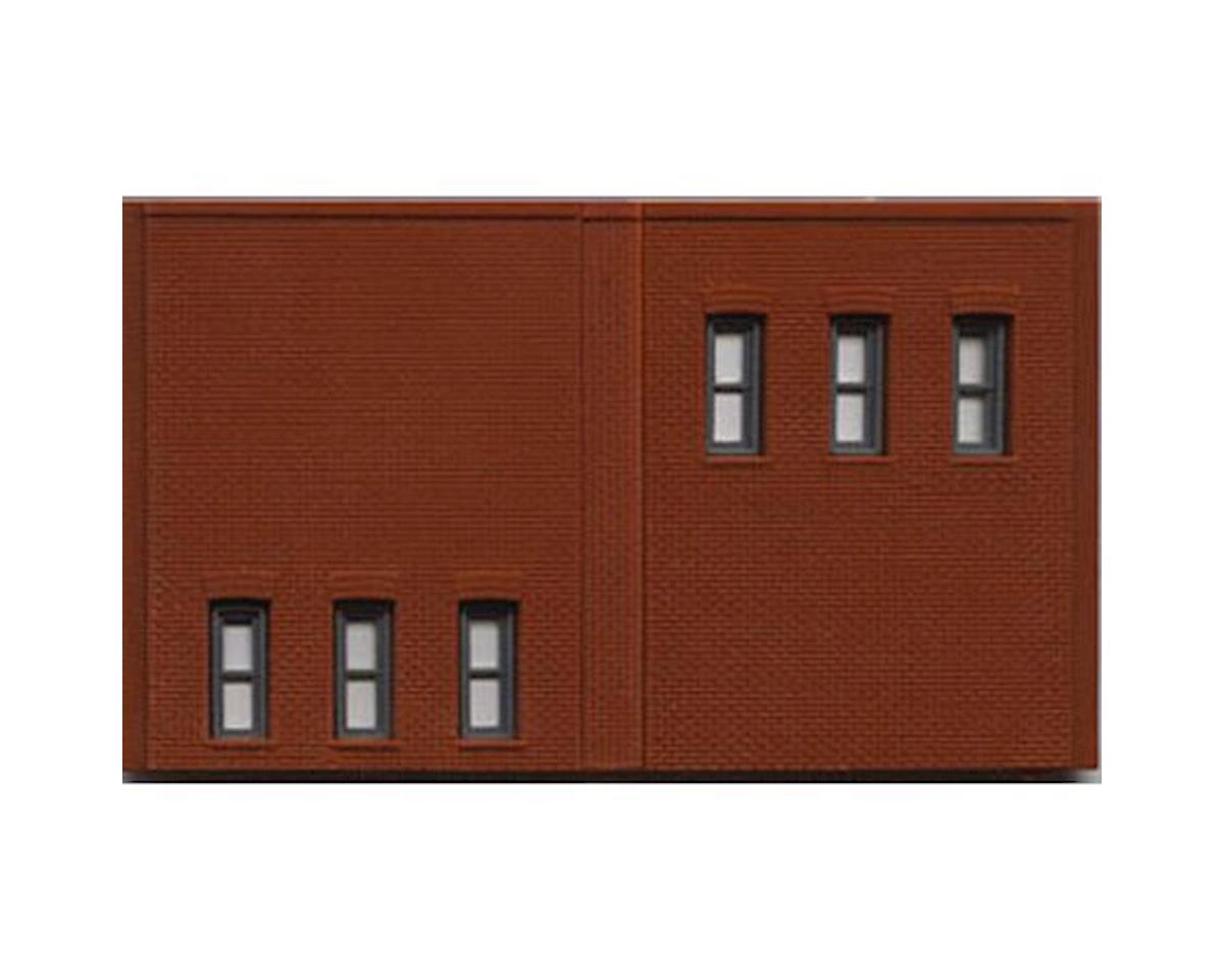 Woodland Scenics N DPM 2 Story Wall/6 Windows (3)