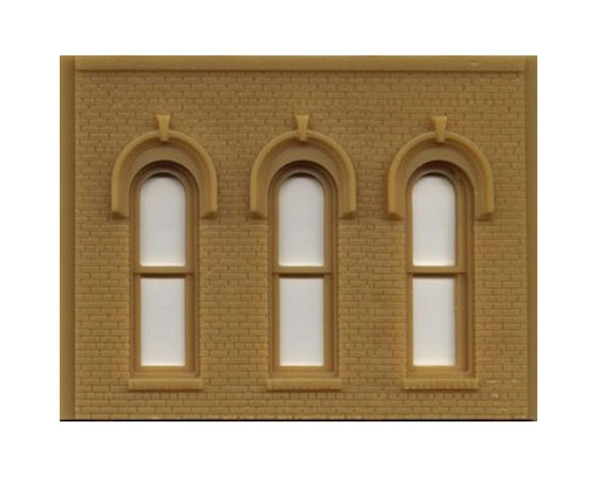 Woodland Scenics O DPM Arched Window Wall (2)