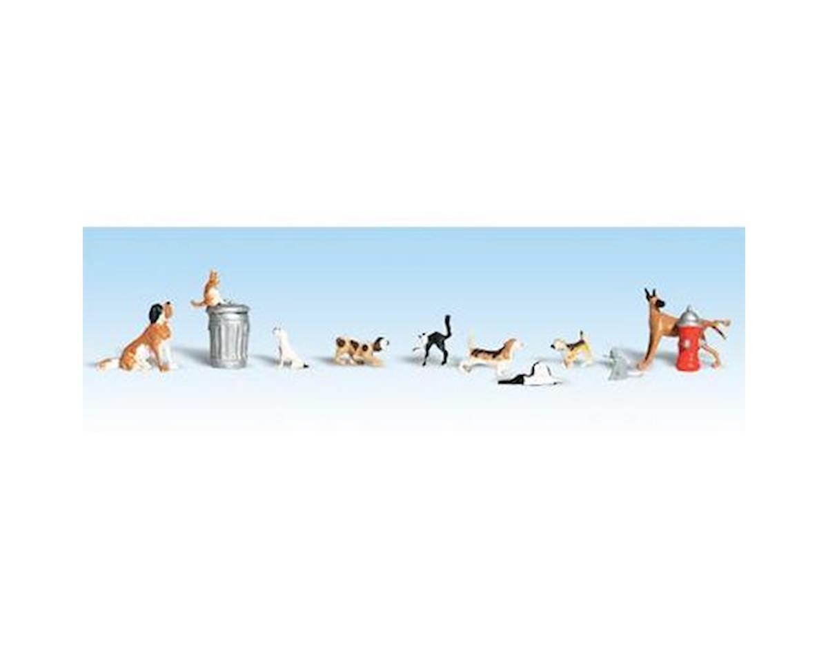 Woodland Scenics HO Dogs & Cats