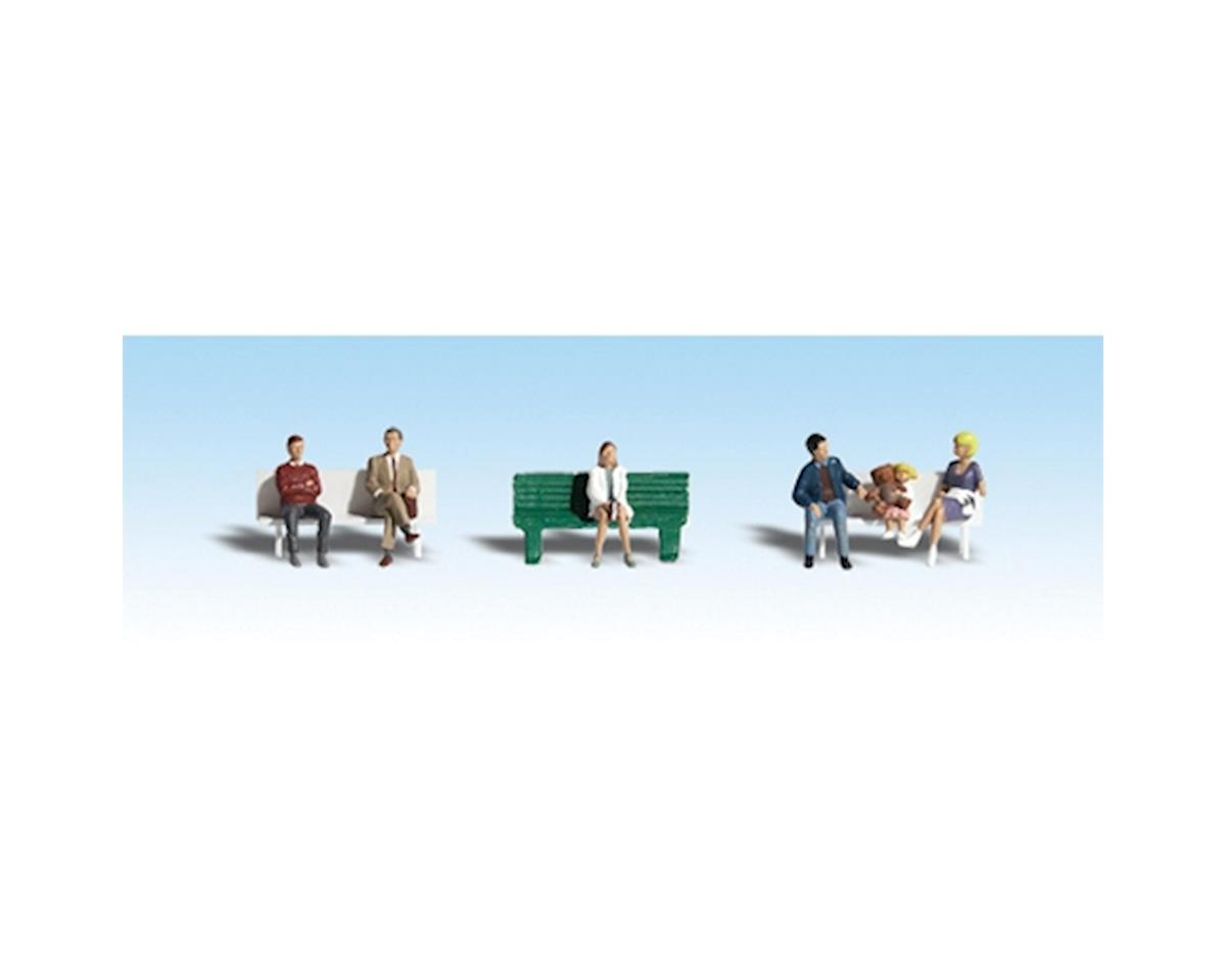 HO Bus Stop People by Woodland Scenics