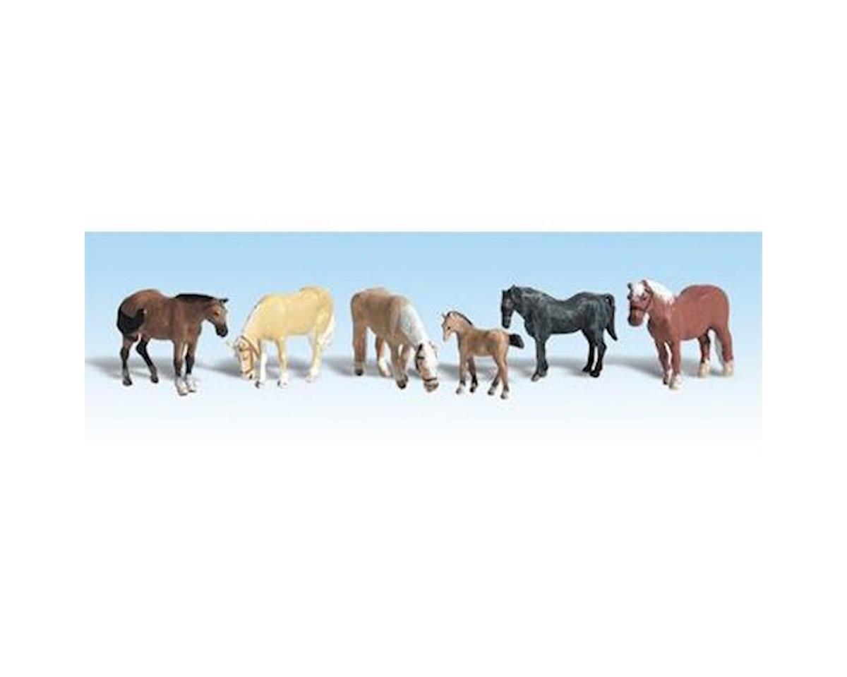 HO Farm Horses by Woodland Scenics