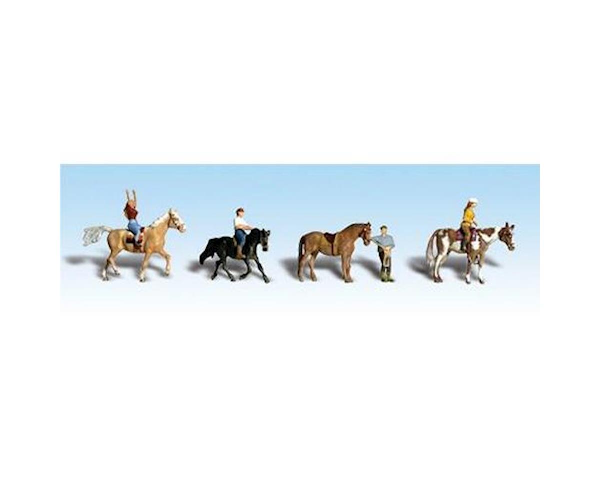 Woodland Scenics HO Horseback Riders