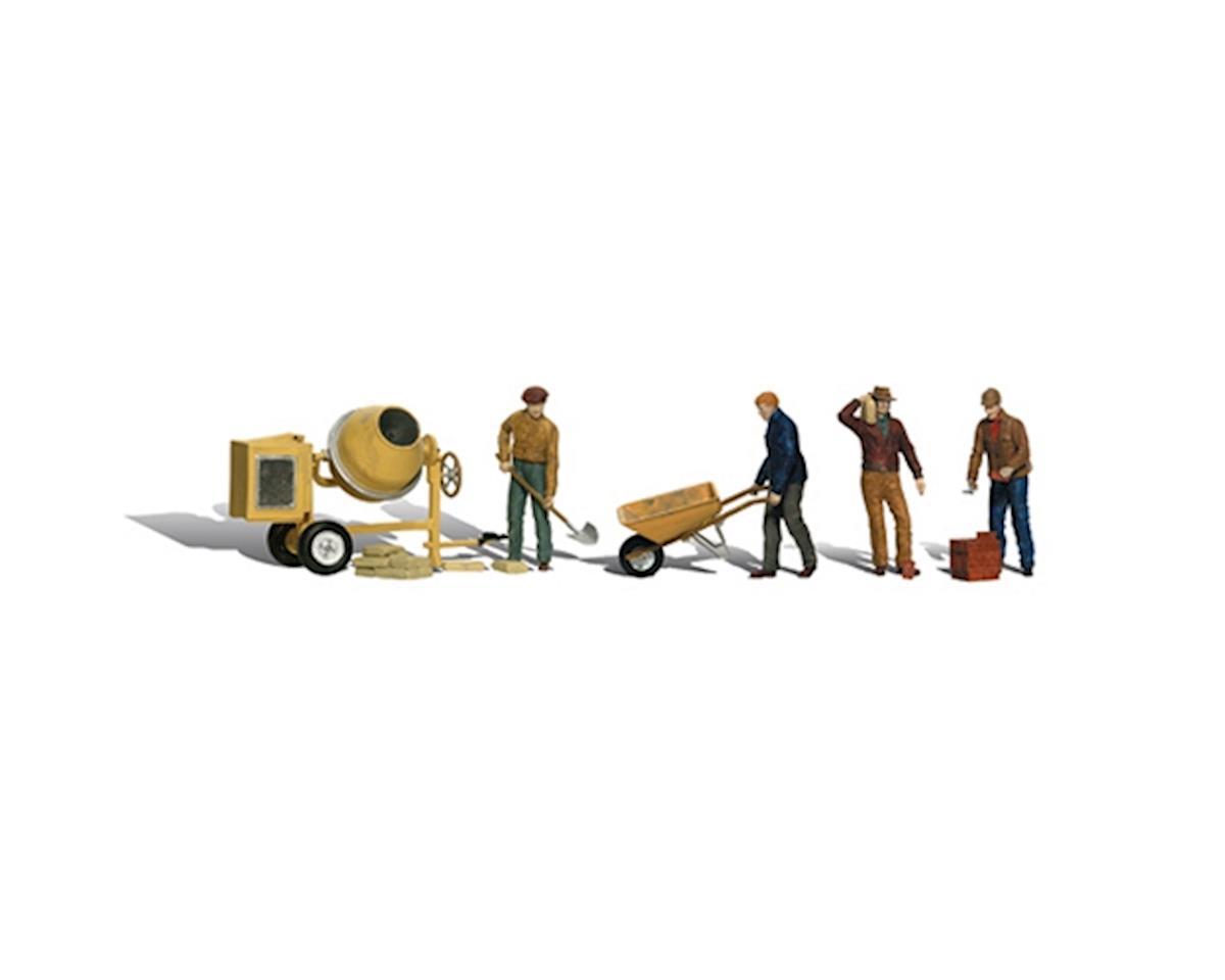 HO Masonry Workers by Woodland Scenics