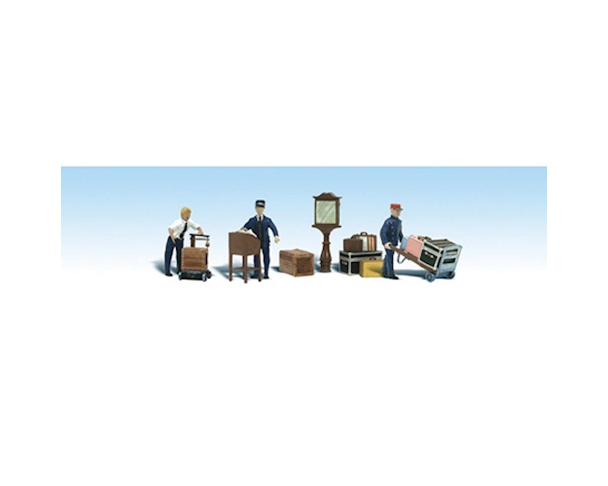 HO Depot Workers & Accessories by Woodland Scenics